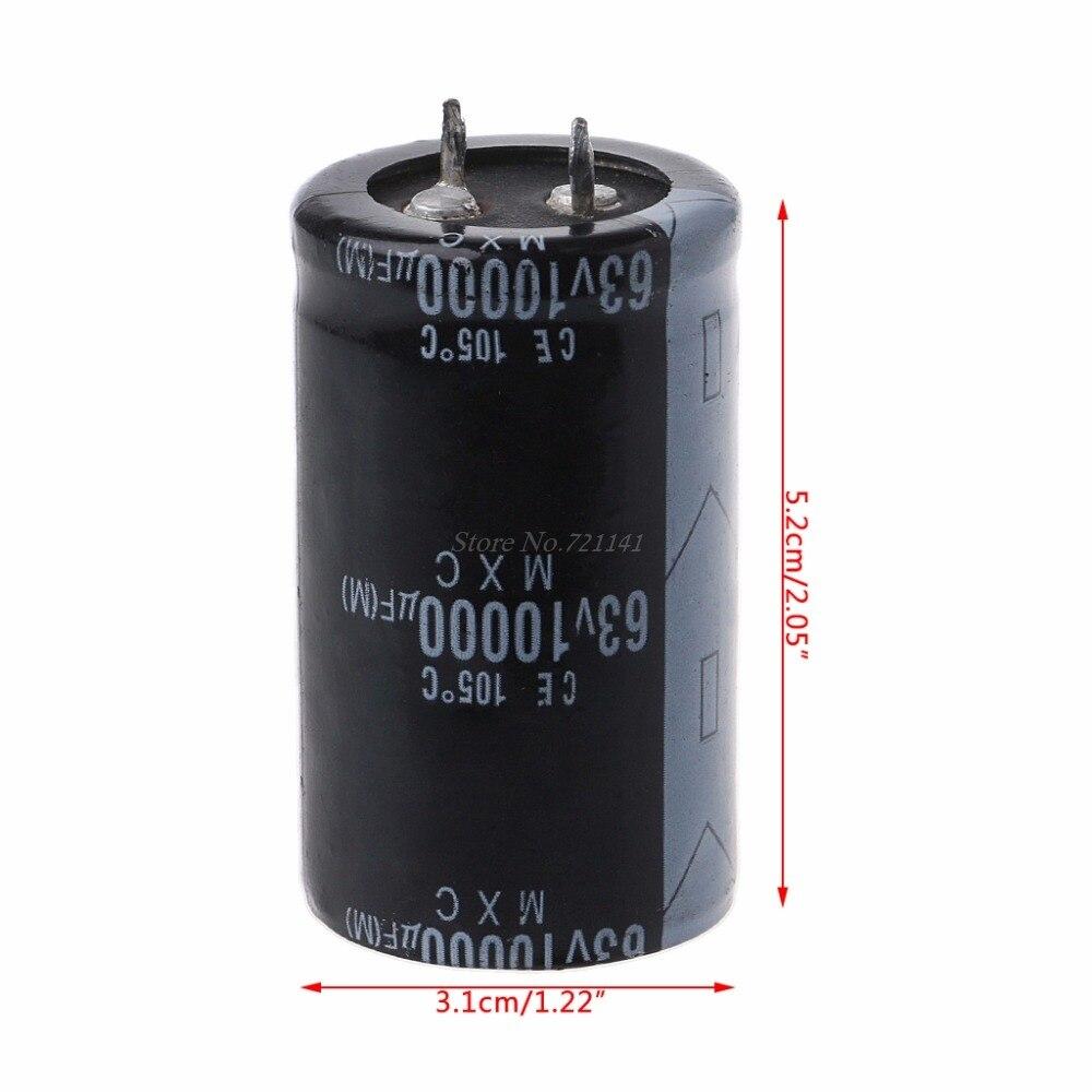 63V 10000 мкФ долговечный высокочастотный электролитический конденсатор прочные конденсаторы