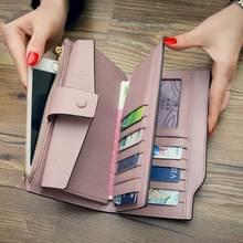 Echtes Leder Geldbörse frauen geldbörsen hohe qualität togo leder Marke 2017 handy Kartenhalter Lange Dame Geldbörse Kupplung