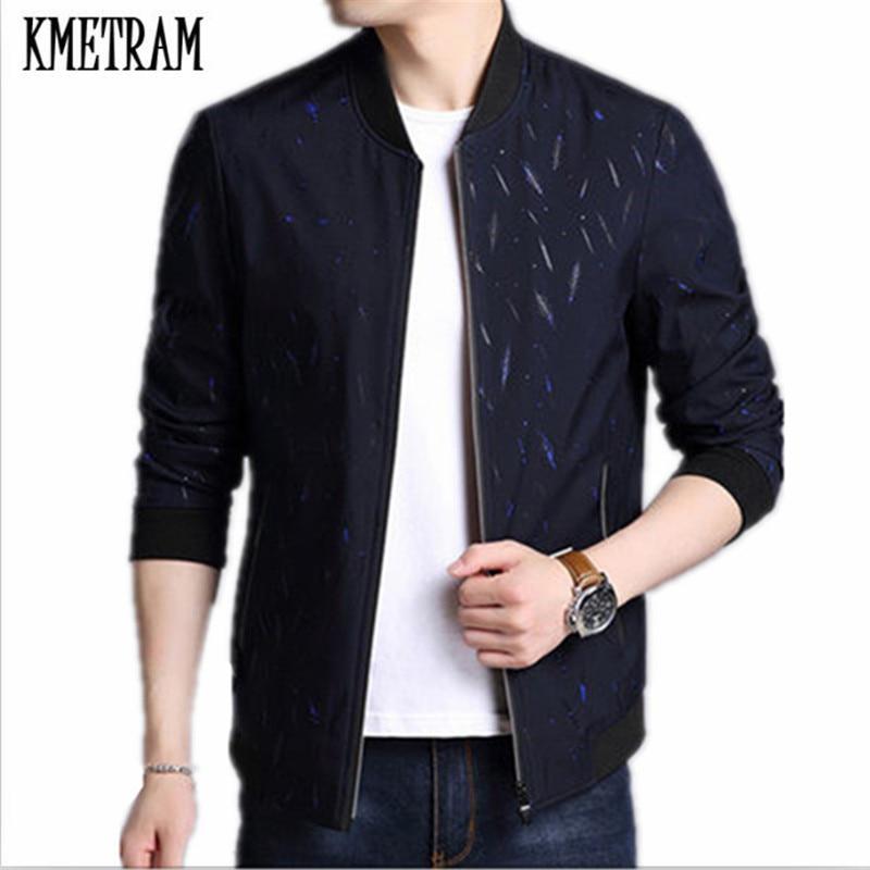 KMETRAM Giacca Uomo Casual Slim Mens Jacket Handsome Bomber Jacket Mens giacche e Cappotti Più Il Formato 3XL Jaqueta Masculina HH834