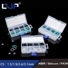 Mini 120PCS 8Sizes Rubber/ Silicone Ring VMQ NBR O Ring  Seal Assortment Sealing O-ring Set Kit silicon Nitrile Gasket Box printio новогодние узоры