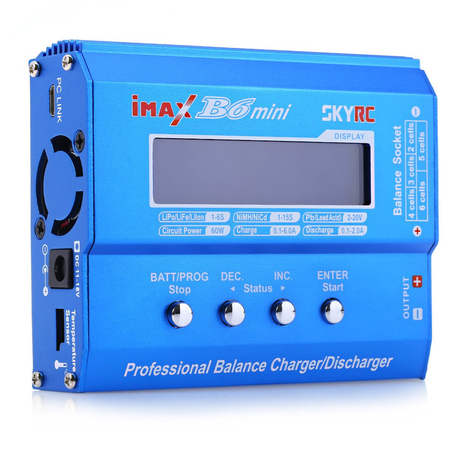 HOT SALE 100% Original SKYRC IMAX B6 MINI 60W Balance Charger Discharger For RC Helicopter Battery Charging Re-peak Mode original ev peak d1 rc lipo battery charging for yuneec typhoon q500 intelligent balance battery charger