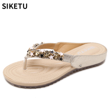 2018 Women Shoes New Fashion Summer Casual Sandals Golden Bling Stars With Lady Leisure Beach