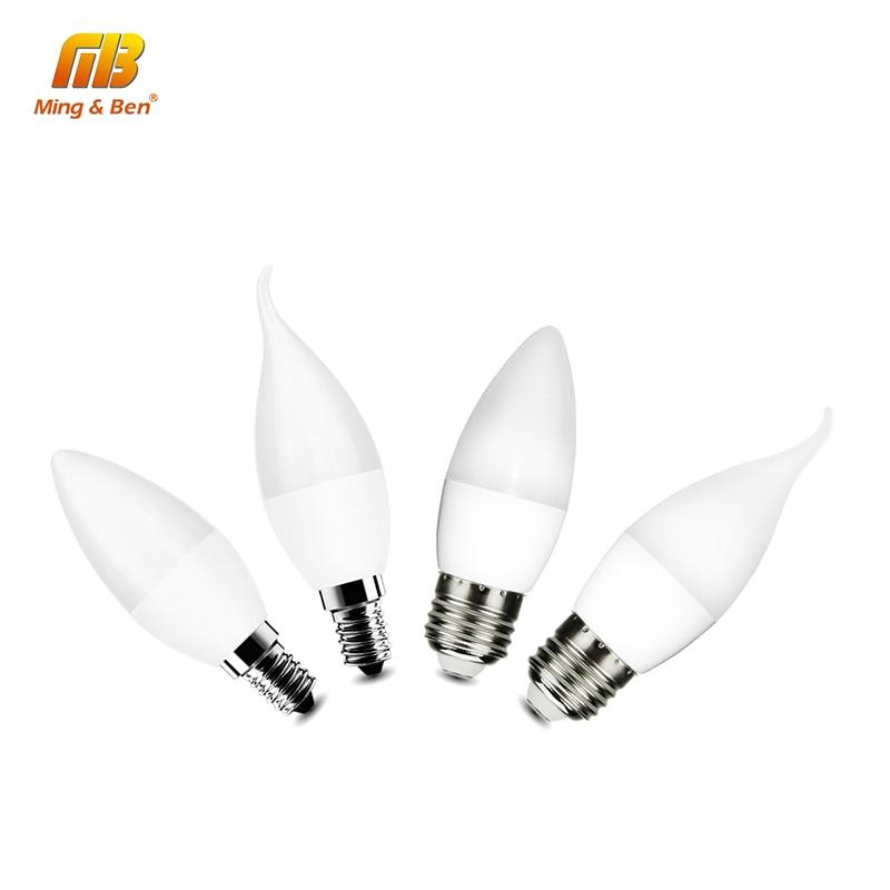 4pcs Led Candle Bulb Light Brand Lamp E14 E27 5W AC 220V 230V Spotlight SMD2835 Warm White Cool White LED Chandelier Partners