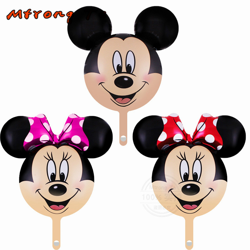 15pcs/lot mini Minnie Mickey Head Foil Balloon for Birthday Party baby shower Decor Kids Baby Cartoon Toys golb Mtrong Te
