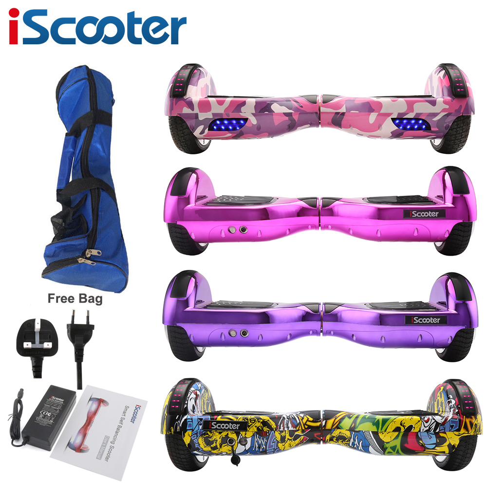 Hoverboard Bluetooth 6.5inch Electric Giroskuter 2 Wheel self Balance Electric scooter unicycle Standing Smart two wheel scooter 2 wheel electric balance scooter adult personal balance vehicle bike gyroscope lithuim battery