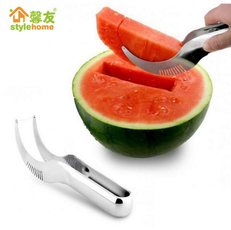 1pc Stainless Steel Watermelon Slicer Corer Fruit Vegetable Peeler Metal Cutting Dies Kitchen Accessories Melon Kitchen Gadgets
