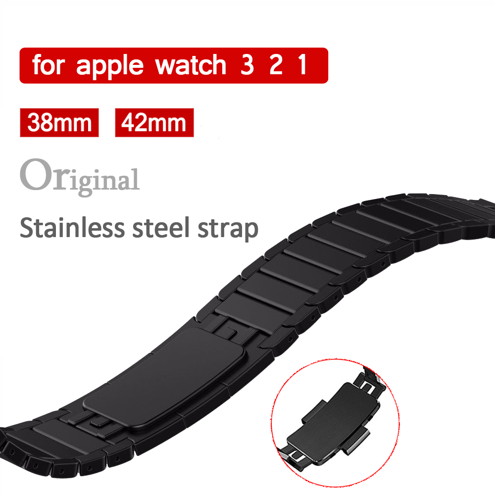 EIMO 316L Stainless Steel for Apple Watch band strap 42mm/38mm link bracelet metal wrist Belt Buckle watchband for iwatch 3/2/1