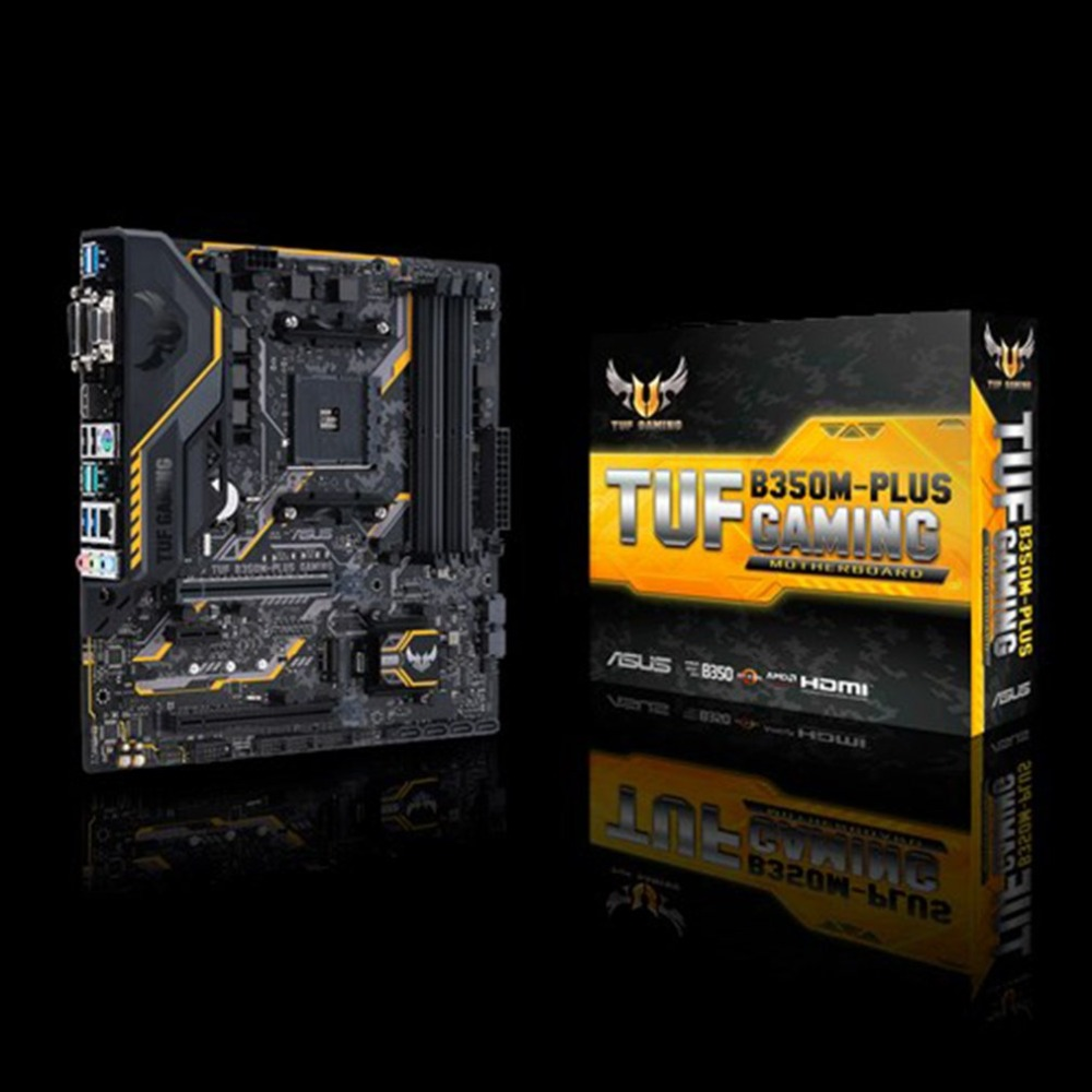 цена на TUF B350M-PLUS GAMING Motherboard Original Desktop Motherboard for AMD Socket AM4 DDR4 64G SATA3 USB3.1 Micro-ATX