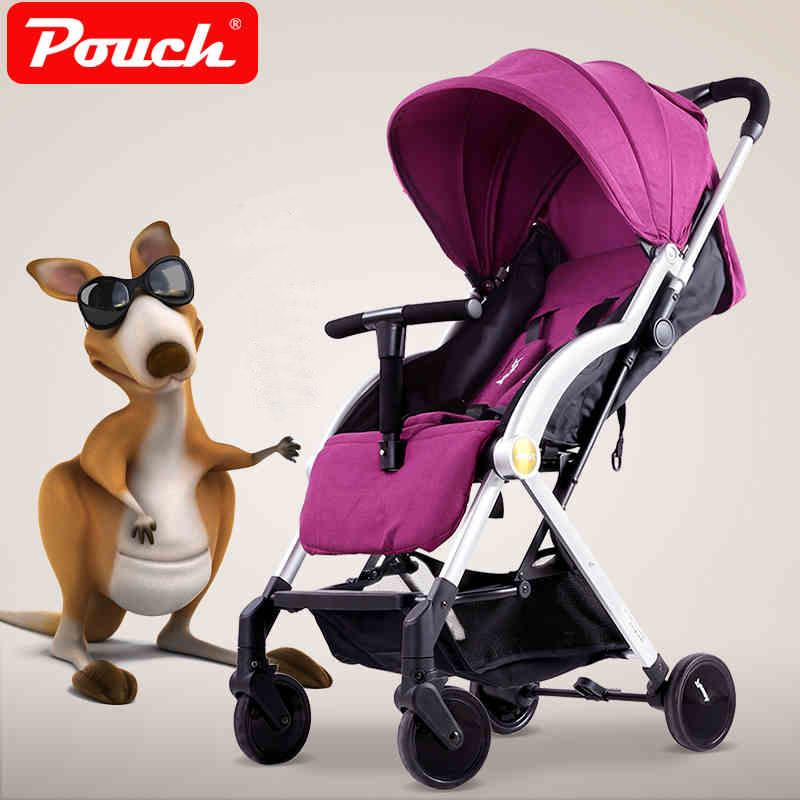 Pouch Light Baby Stroller, Children Umbrella Cart, Baby Pocket Car, Can Sit & Lie , Folding Pushchair, Fast Folding Trolley цена