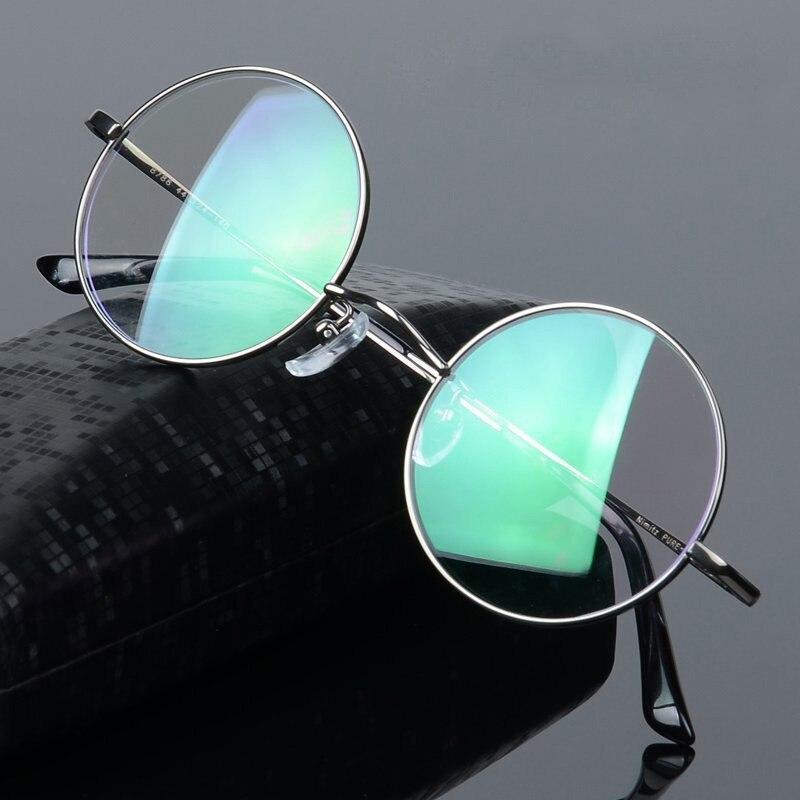 Vazrobe 5.5g titane lunettes hommes femmes petit rond lunettes cadres homme or Prescription lunettes myopie Diopter optique