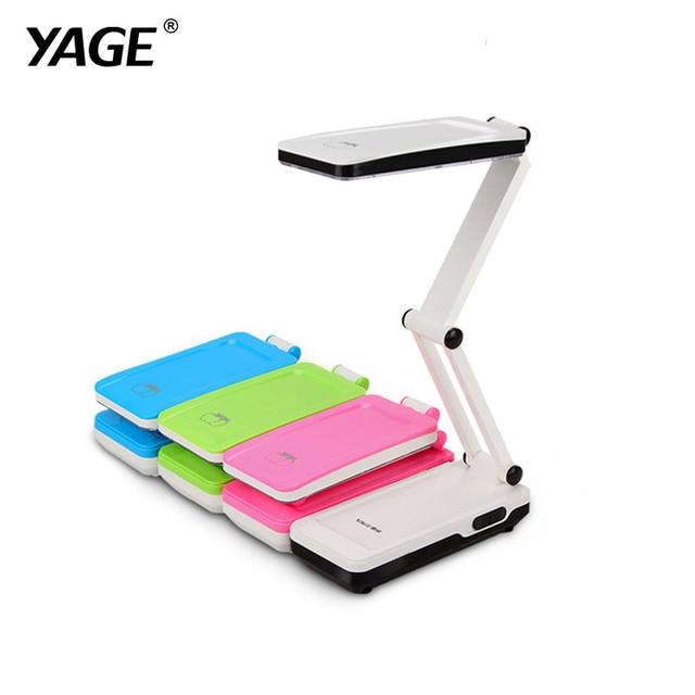 YAGE 5913C Desk Lamp Night Light  LED Table Lamp reading books desk light usb Foldable 3-layer body 21 pcs SMD