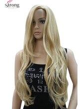 Женская Длинные Волнистые Блондинка Синтетический Парик Волос Косплей парики