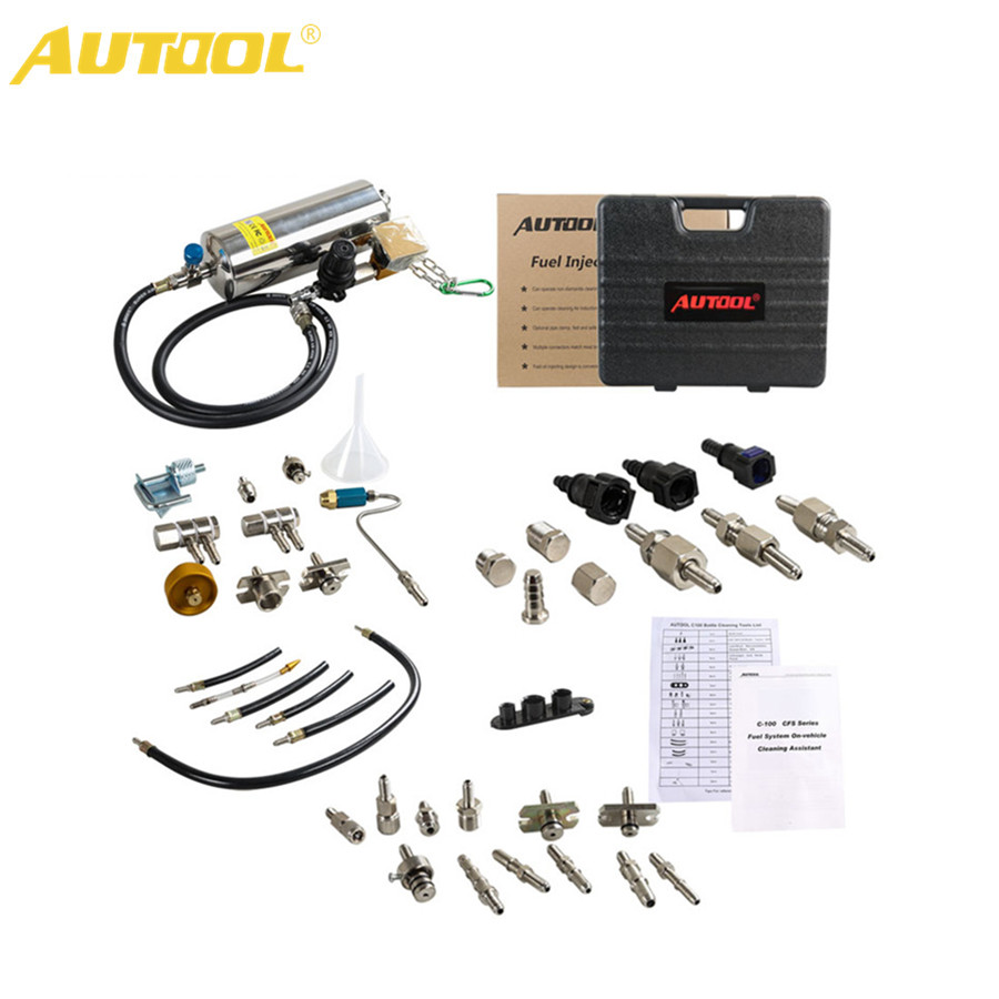 AUTOOL C100 Automotive Non-Dismantle Fuel System Injector Cleaner for Petrol EFI Throttle все цены