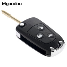 цена на 3 Buttons Folding Flip Fob Car Remote Key Shell Case Uncut Blade For Ford Mondeo Fiesta Focus Mondeo Puma Fiesta KA Replacement