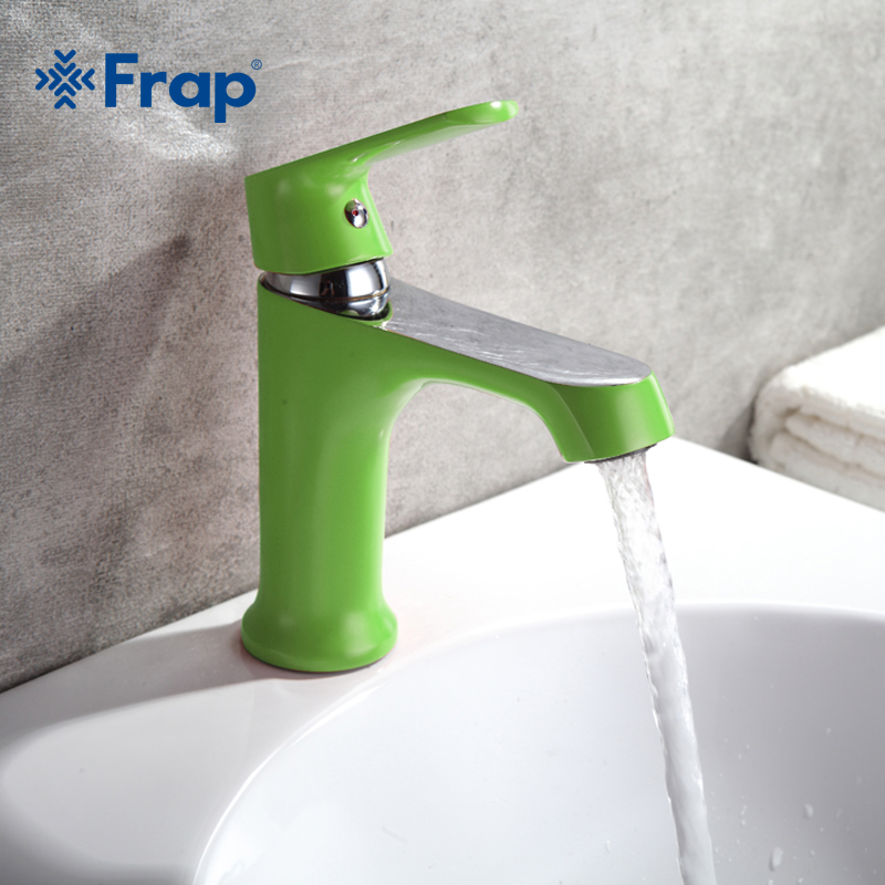FRAP 1set Bathroom Fixture Brass Faucets Toilet Water Basin Sink Tap Colored Bathroom Sink Faucet Water Mixer High Quality F1031
