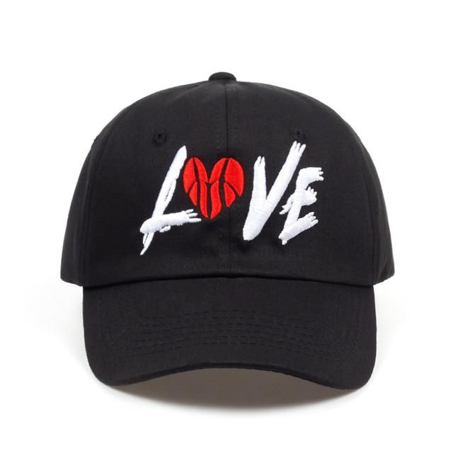 83176bf703887 2018 new Black Love Basketball letter Retro Baseball Cap Hip Hop Snapback  Brand Hat For Men Women Vintage Dad Cap