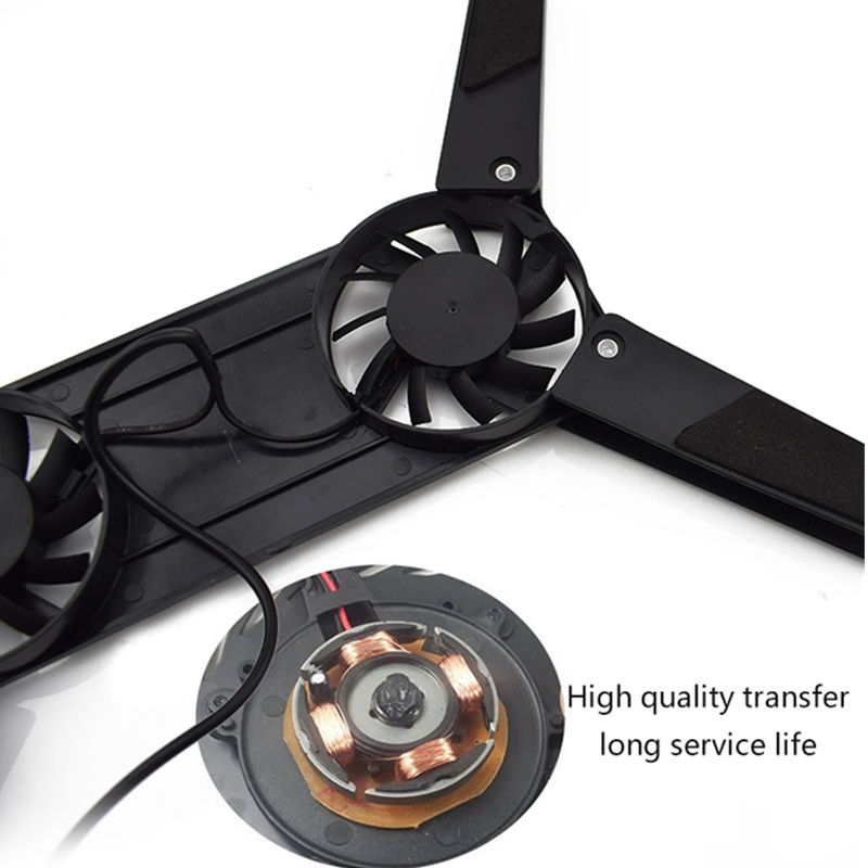 Rotatable USB Laptop Cooling Pad 2 Fans Cooler 5