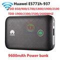 Открыл huawei E5771 E5771h-937 9600 мАч Мощность банк 4G LTE МИФИ модем Wi-Fi маршрутизатор мобильной точки доступа PK E5770 E5786 E5377 MF855