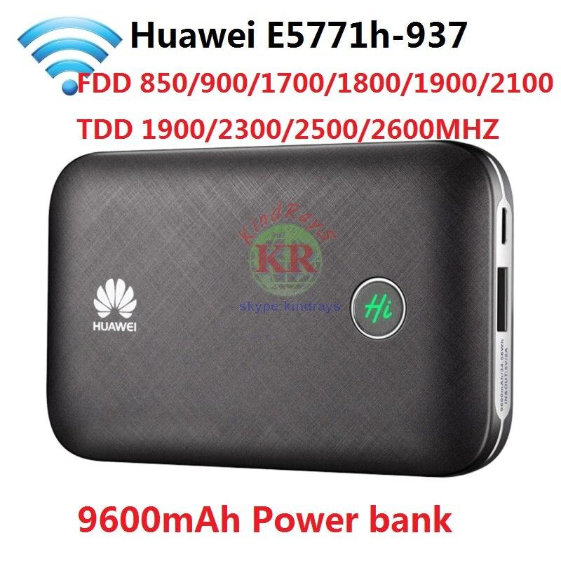 Débloqué Huawei E5771 E5771h-937 9600 mah Banque De Puissance 4g LTE MIFI Modem Routeur WiFi hotspot Mobile PK E5770 E5786 e5377 MF855