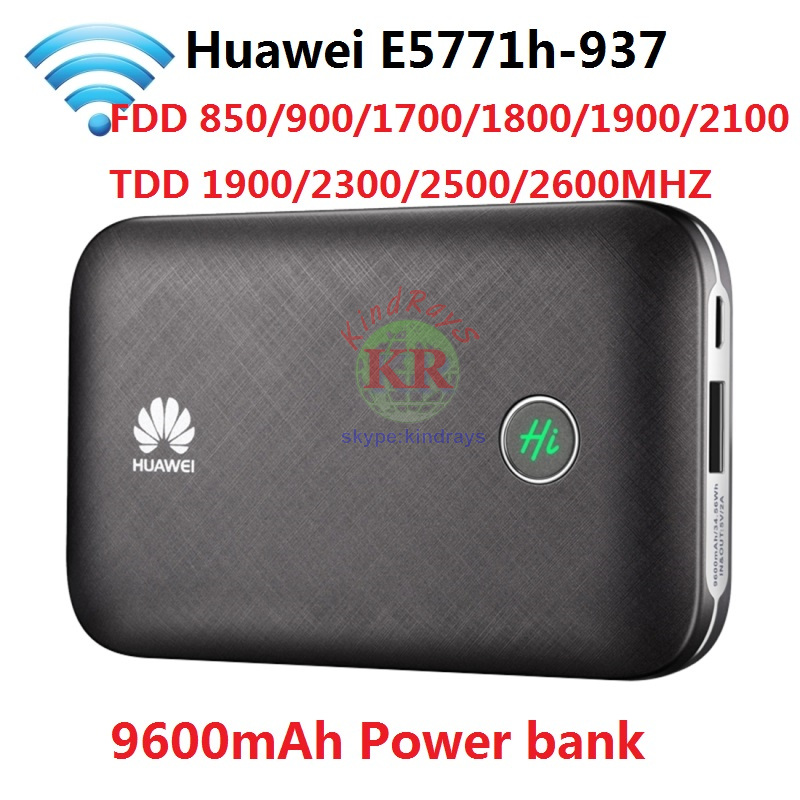 Unlocked Huawei E5771 E5771h-937 9600mAh Power Bank 4G LTE MIFI Modem WiFi Router Mobile hotspot PK E5770 E5786 E5377 MF855 цена