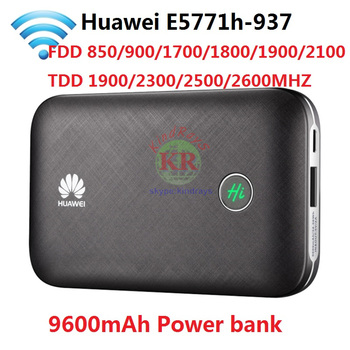 Unlocked Huawei E5771 E5771h-937 9600mAh Power Bank 4G LTE MIFI Modem WiFi  Router Mobile hotspot PK