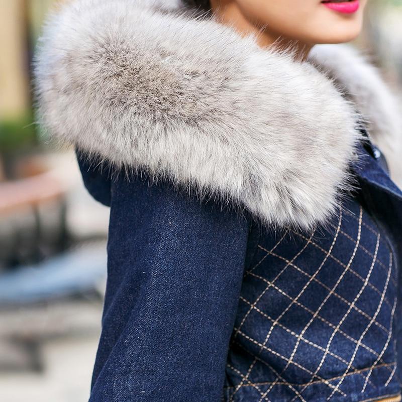 Tops Femmes Nouveau D'hiver Chaud Long Velours Denim Fourrure Veste Fausse En Col 2018 Casual Capuche Manteau Survêtement Mince Mode Épaissir FSwSrdxUq