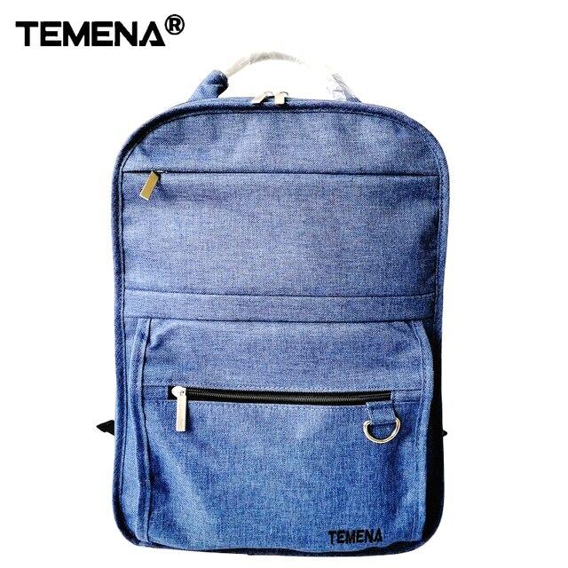 TEMENA Canvas Men's Backpack Bag Brand 14 Inch Laptop Notebook Mochila for Men Waterproof Back Pack school backpack bag