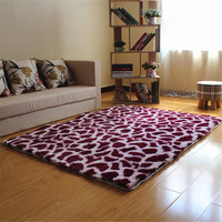 Zebra Carpet Long Plush Shaggy Area Rug Bedside Fluffy Silkly Rug Bedroom Rugs Doormat Mats Rug and Carpet for Living Room