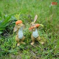 אוסף כל יום יד מצוירת מתנות סט של 2 יום אבות באני תפאורה, ארנב פסחא קישוט