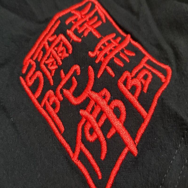 broderie T-shirt manche