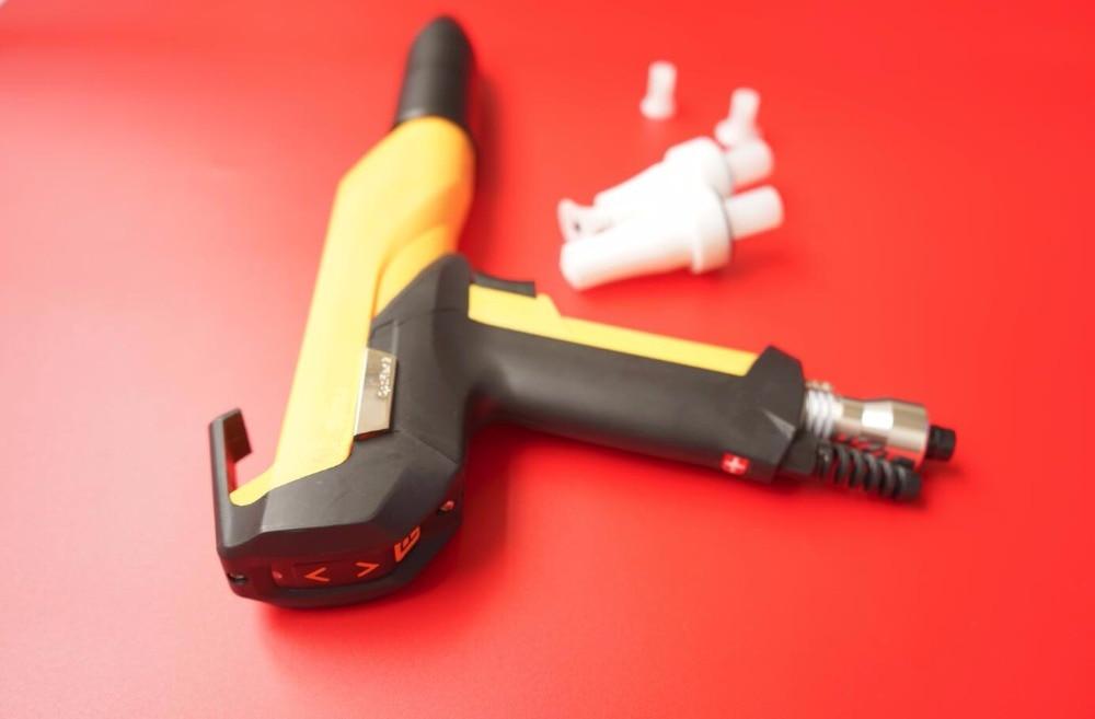 optiflex 2 aftermarket manual electrostatic powder spray gun shell for GEMA GM03 with nozzle for coating machine high quality manual electrostatic powder coating spray gun nozzle lengthened pole for wagner x1