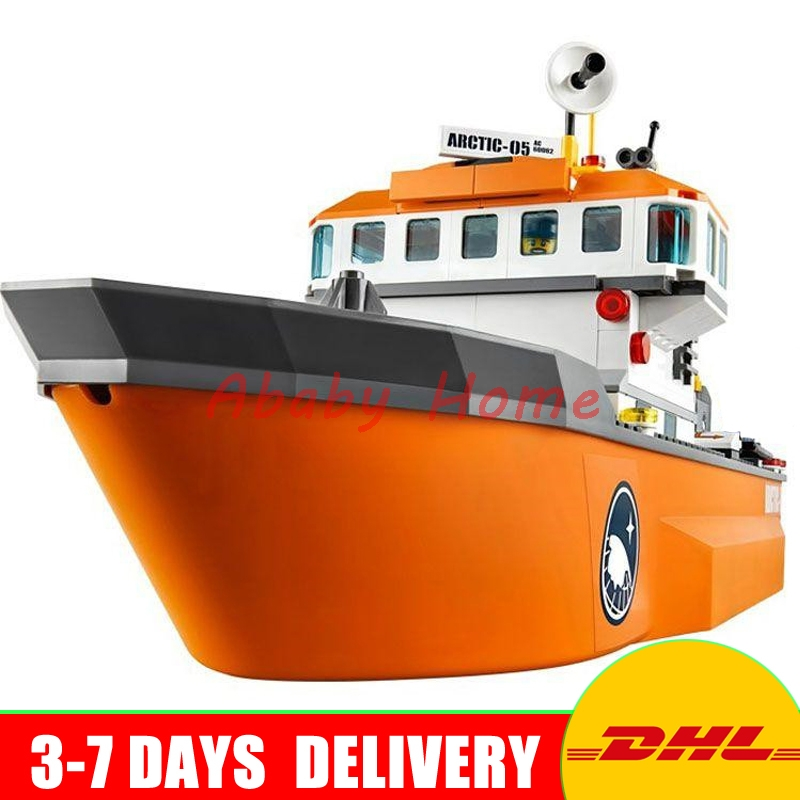 DHL Bela 10443 Arctic ice breaking team 760pcs Educational Building Blocks Bricks Model Toys Gifts compatible 60062