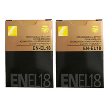 2 шт./лот 2000 мА/ч, EN-EL18 ENEL18 RU EL18 Батарея для Nikon D5 D4 D4S D4X MH-26A для зеркальной однообъективной камеры Камера