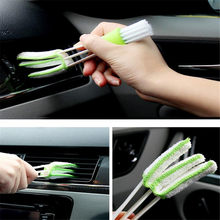 Portable Double Ended Car Air Conditioner Vent Slit Cleaner Brush For nissan x-trail t32 renault megane 3 kia sorento Lada Kalin(China)
