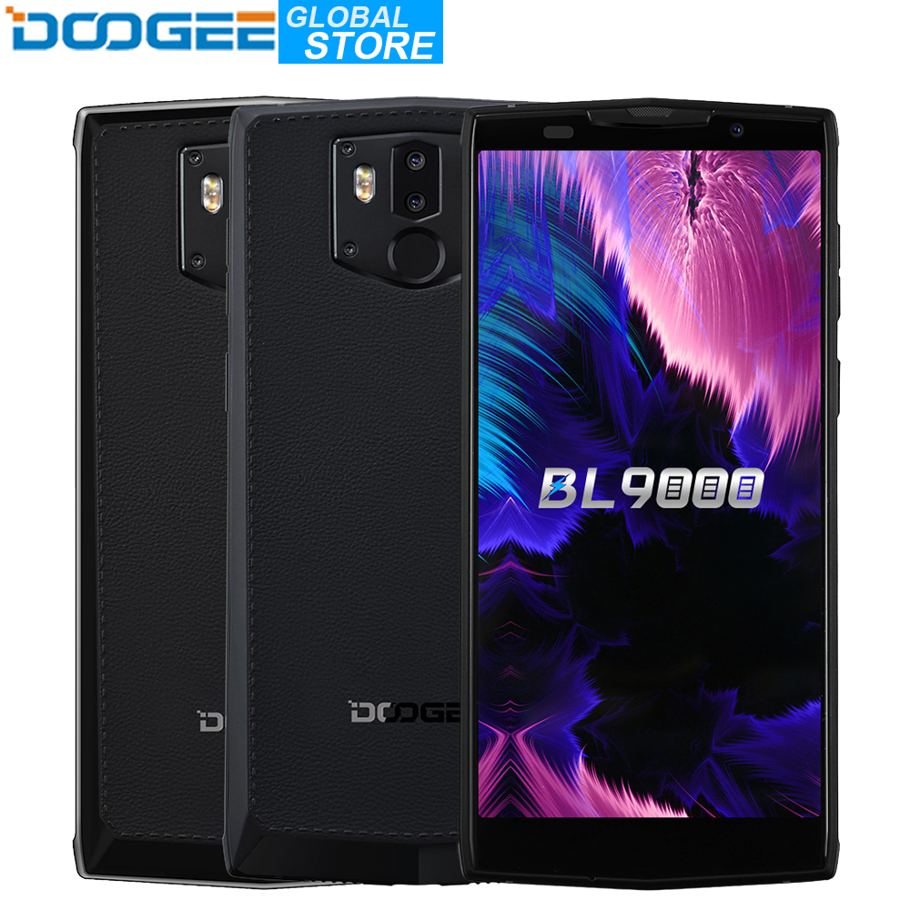DOOGEE BL9000 Smartphone 6 GB 64 GB Helio P23 Octa Core 5V5A Charge Flash 9000 mAh Charge sans fil 5.99