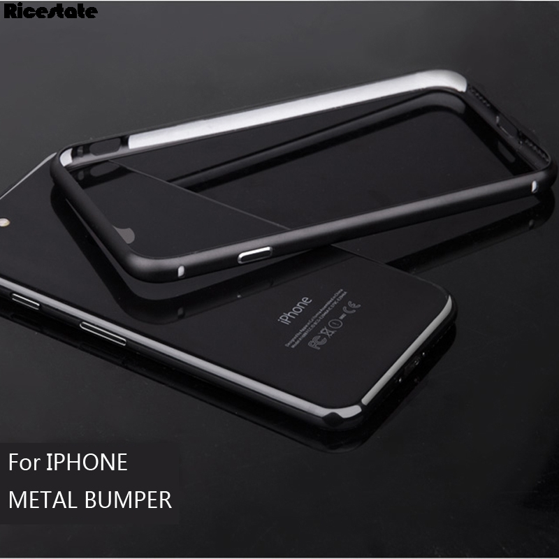 New Fashion Aluminum Metal Bumper For iPhone 7 Plus Protective Shield Frame For iphone X XS MAX XR 5 6 7 8 Plus frame case bmper