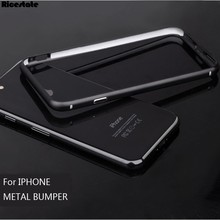 New Fashion Aluminum Metal Bumper For iPhone 7 Plus Protective Shield Frame For iphone X XS MAX XR 5 6 7 8 Plus frame case bmper(China)