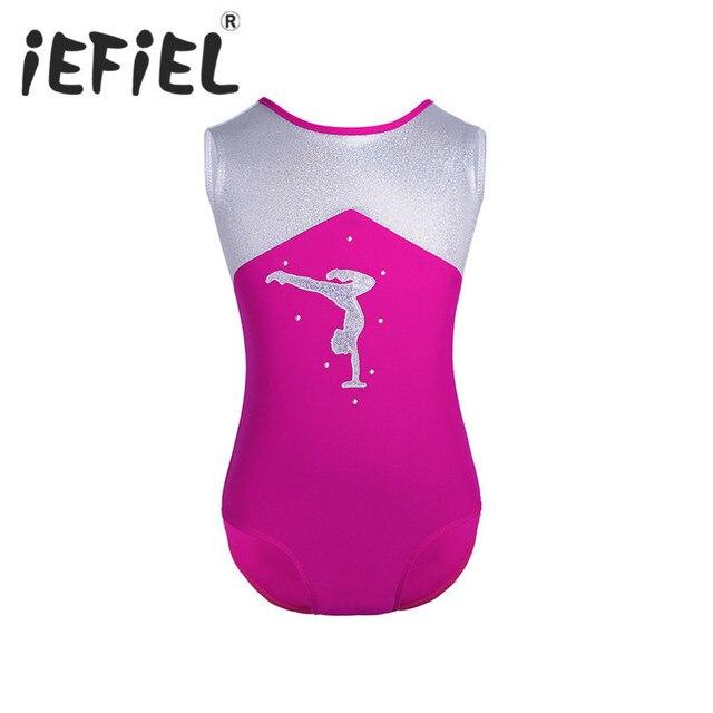 3c83ae2b2 iEFiEL Kid Girl Children Glittery Splice Ballet Dance Gymnastics ...