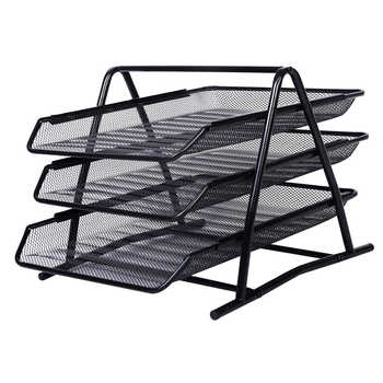 SOSW-Office Filing Trays Holder A4 Document Letter Paper Wire Mesh Storage Organiser - DISCOUNT ITEM  21% OFF All Category