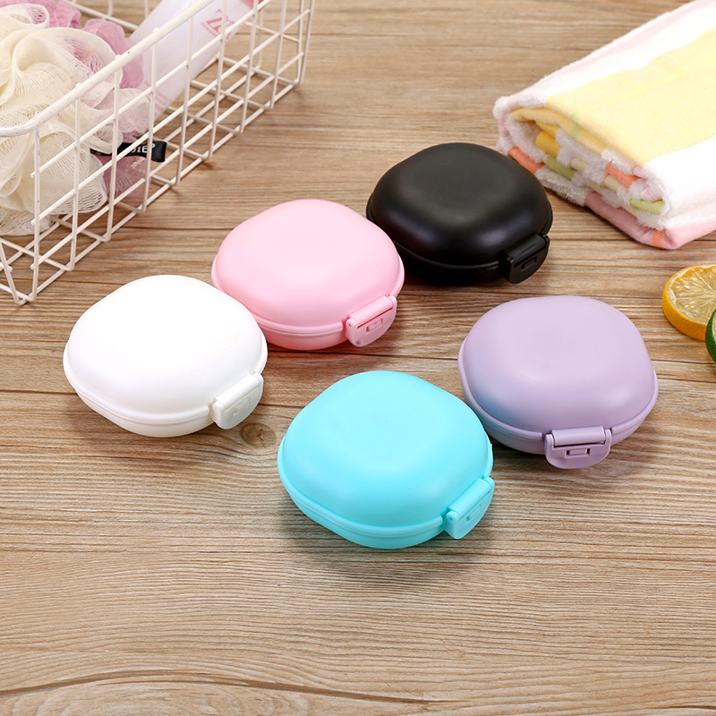 New Portable Candy Color Soap Box Home Shower Travel Hiking Soap Holder Container Soap Dish Bathroom Supplies Drop Shipping