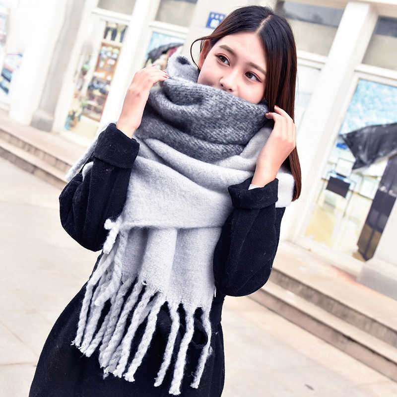 44ffe3161 2019 Winter Scarf for Women Cashmere Scarves Shawls Soft Scarf for Women  Wool Pashmina Winter Warm