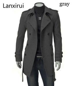 Image 1 - Vestes Long avec ceinture pour hommes, Trench Coat croisé livraison directe, livraison rapide