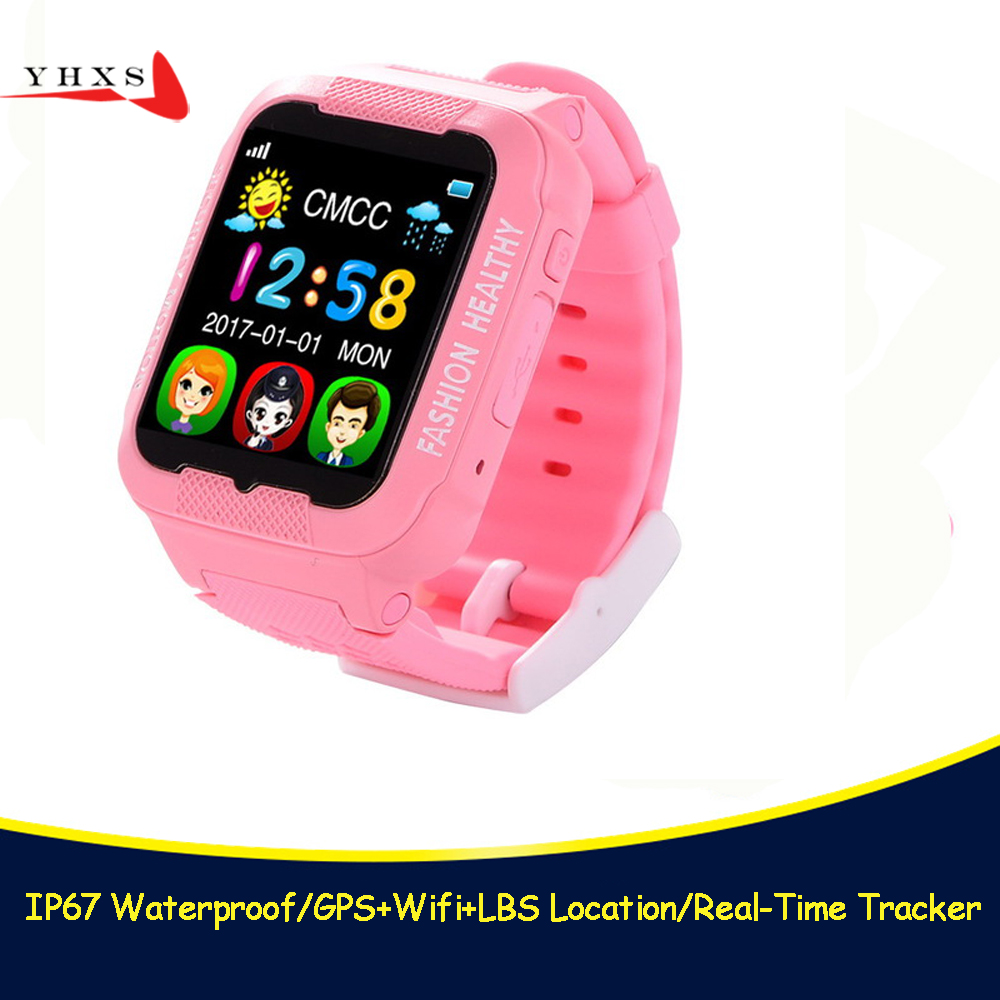K3 Waterproof Smart Kid GPS Safe Anti-Lost Monitor Camera Sim Card Watch Phone Facebook MP3 SOS Call Location Tracker Smartwatch new x6 smartphone watch 1 54 curved touch screen smartwatch phone facebook sync mp3 pedometer smart watch anti lost watches