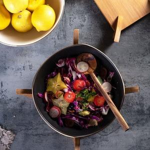 Image 4 - Cuenco nórdico original para ensalada, 1 Uds., vajilla de cerámica para el hogar de mármol, tazón de sopa, cuencos grandes, tazón de mezcla