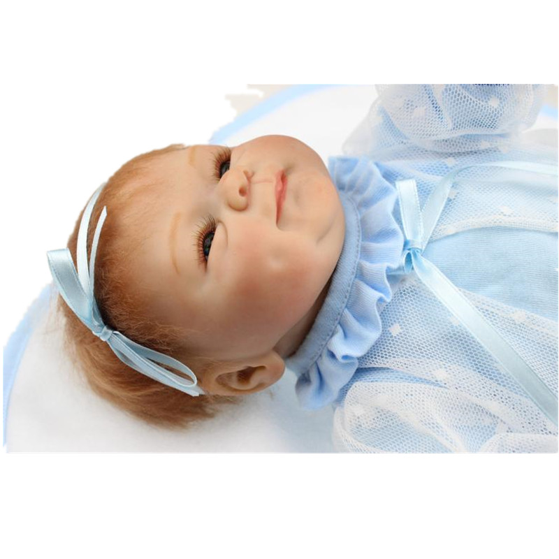 18Inches 45CM Bebe Silicone Reborn Baby Doll Realistic Toys Brand Best Gift For Kids Girls Soft Cloth Body Babies Princess Toys