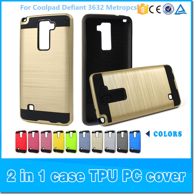 online store 86f31 29e91 US $550.0 |Armor Neo Hybrid Brushed Case Cover Factory Bulk Cell Phone Case  For Coolpad Defiant 3632 Metropcs Free DHL-in Half-wrapped Case from ...