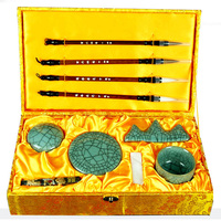 10pcs/set Chinese painting supplies Four Treasures of Study painting brush ink stick water plate pen holder Art Set