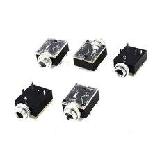 5PCS 5 Pin 3.5mm Female Audio Stereo Jack Socket PCB Panel Mount PJ-324M