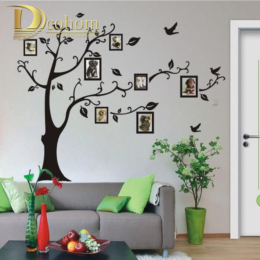 Fashion home decor diy photo tree wall sticker removable for Diy photographic mural