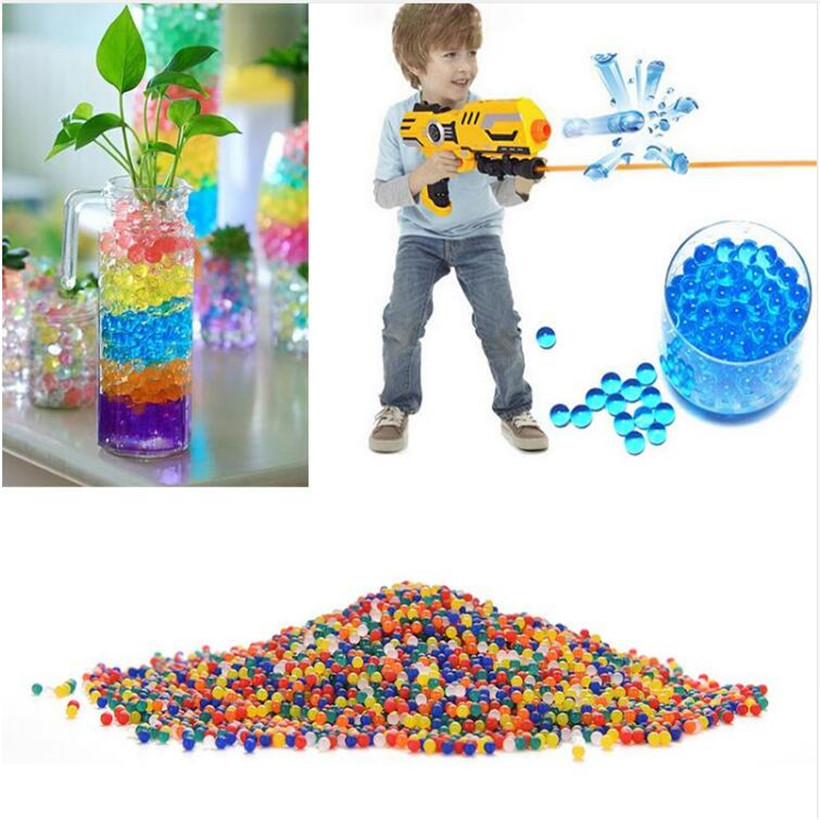 10000pcs bag colored orbeez soft crystal water paintball gun bullet grow water beads grow balls water